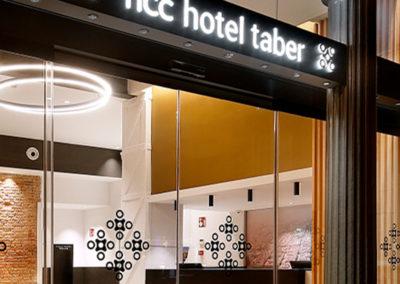 Señalética Hotel Taber Barcelona