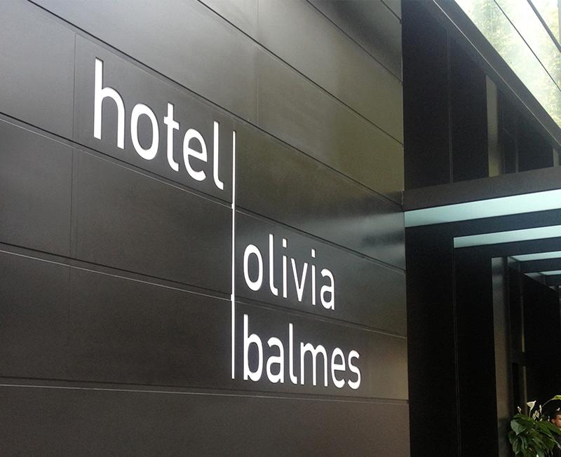 Señalética Hotel Olivia Balmes